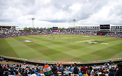 A general view of play during the ICC Cricket World Cup group stage match at the Hampshire Bowl, Southampton.
