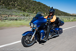 Roger McKenzie of Hooper, UT on his 2017 Ultra Limited riding from Steamboat Springs to Doc Holliday's Harley-Davidson in Glenwood Springs during the Rocky Mountain Regional HOG Rally, Colorado, USA. Thursday June 8, 2017. Photography ©2017 Michael Lichter.