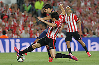 Barcelona´s Luis Suarez and Athletic de Bilbao´s Xabier Etxeita during 2014-15 Copa del Rey final match between Barcelona and Athletic de Bilbao at Camp Nou stadium in Barcelona, Spain. May 30, 2015. (ALTERPHOTOS/Victor Blanco)