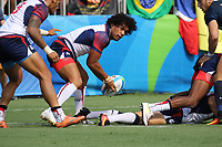August 09, 2016; Rio de Janeiro, Brazil; USA Men's Eagles Sevens Folau Niua in action against Argentina during the Men's Rugby Sevens Pool A match on Day 4 of the Rio 2016 Olympic Games at Deodoro Stadium. Photo credit: Abel Barrientes - KLC fotos