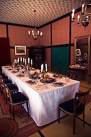 """Dejima Dining Room Interior Dejima, literally """"protruding island"""" was an artificial island in the bay of Nagasaki that was a Dutch trading post during Japan's self-imposed isolation during the Edo period, from 1641 until 1853."""
