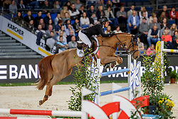 PATTEET Gudrun (BEL), Sea Coast Kashmira Z<br /> Stuttgart - German Masters 2019<br /> PREIS DER FIRMA XXL-SICHERHEIT<br /> Zeitspringprüfung International<br /> Qualifikation zum MERCEDES GERMAN MASTER<br /> 14. November 2019<br /> © www.sportfotos-lafrentz.de/Stefan Lafrentz