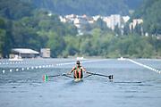Lucerne, SWITZERLAND, Friday , 27/05/2016 , 2016 FISA WCII,  Lake Rottsee,  Men's single Scull, heat, MEX M1X. Juan Carlos CABRERA, [Mandatory Credit; Peter SPURRIER/Intersport-images]