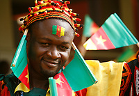 Photo: Steve Bond/Richard Lane Photography.<br />Ghana v Cameroon. Africa Cup of Nations. 07/02/2008. Cameroon fan shows the colours