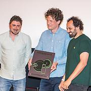 NLD/Amsterdam/20180621 - Uitreiking Nipkowschijf 2018, Ersin Kiris wint met zijn programma Ersin in Wonderland een nominatie