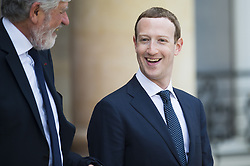Facebook's CEO Mark Zuckerberg leaves Elysee Palace in Paris, France, on May 23, 2018 in Paris. Photo By ELIOT BLONDET/ABACAPRESS.COM