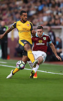 Football - 2016 / 2017 Premier League - Burnley v Arsenal at Turf Moor<br /> <br /> Theo Walcott of Arsenal and Stephen Ward of Burnley<br /> <br /> COLORSPORT/LYNNE CAMERON