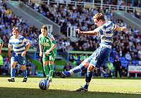 © Andrew Fosker / Richard Lane Photography 2010 - Reading's Gylfi Sigurdsson scores a  goal - a penalty and Reading's second  Reading v Peterborough - Coca-Cola Championship - 17/04/2010 - Madejski Stadium - Reading - UK.