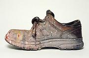 still life of painter's shoe