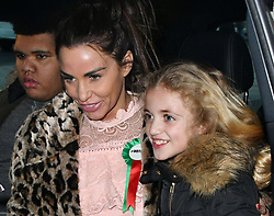 February 6, 2018 - London, London, United Kingdom - Katie Price in Parliament. Harvey Price, Katie Price, Princess Tiaamii Crystal Esther Andre at Portcullis House. Katie Price, Loose Women panellist gives evidence in Parliament at Parliamentary Select Committee meeting on how online abuse has affected her family, after an online petition she started gained over 200k public signatures, at House of Commons, London. (Credit Image: © Nils Jorgensen/i-Images via ZUMA Press)