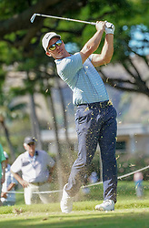January 11, 2019 - Honolulu, HI, U.S. - HONOLULU, HI - JANUARY 11: Paul Casey hits his tee shot at the 4th hole during the second round of the Sony Open at the Waialae Country Club in Honolulu, HI. (Photo by Darryl Oumi/Icon Sportswire) (Credit Image: © Darryl Oumi/Icon SMI via ZUMA Press)