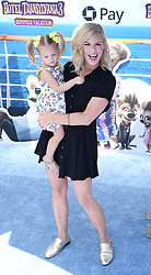 July 1, 2018 - Los Angeles, California, USA - 6/30/18.Kimberly Caldwell Harvey and her daughter Harlow Monroe Harvey at the premiere of ''Hotel Transylvania 3: Summer Vacation'' held at the Westwood Village Theatre in Los Angeles, CA. (Credit Image: © Starmax/Newscom via ZUMA Press)