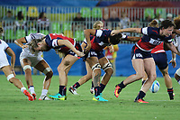 August 08, 2016; Rio de Janeiro, Brazil; USA Women's Eagles Sevens against France during the Women's Rugby Sevens 5th Place Play-Off match on Day 3 of the Rio 2016 Olympic Games at Deodoro Stadium. Photo credit: Abel Barrientes - KLC fotos