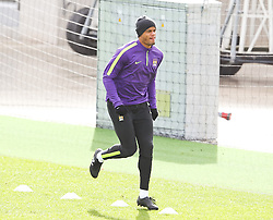 Vincent Kompany of Manchester City pictured during the training session at The Etihad Campus ahead of the UEFA Champions League clash with FC Barcelona - Photo mandatory by-line: Matt McNulty/JMP - Mobile: 07966 386802 - 23/02/2015 - SPORT - Football - Manchester - Etihad Stadium