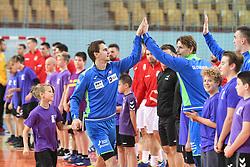 Tean Slovenia before friendly handball match between Slovenia and Srbija, on October 27th, 2019 in Športna dvorana Lukna, Maribor, Slovenia. Photo by Milos Vujinovic / Sportida
