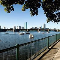 Boston Skyline along the Charles River Basin, Cambridge Side