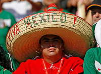 Photo: Glyn Thomas.<br />Mexico v Iran. Group D, FIFA World Cup 2006. 11/06/2006.<br /> A Mexican fan wearing a sombrero hat.
