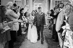 wedding confetti photograph, Hitchin Priory
