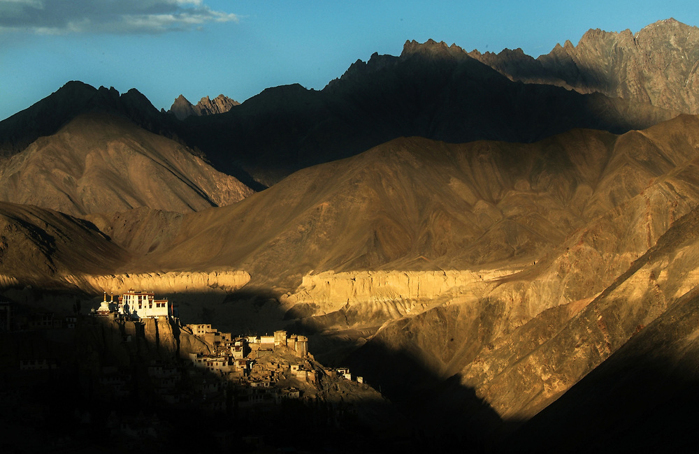 Lamayuru monastery is one of the largest and oldest gompas in Ladakh, with about 150 monks living there. In the surroundings there are many caves where even nowadays yogis spend part of the year for spiritual retreats and serious meditation.<br /> Photo by Lorenz Berna