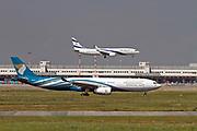 A4O-DJ Oman Air Airbus A330-343 at Malpensa (MXP / LIMC), Milan, Italy