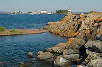 Grand Marais Lighthouse on North Shore of Lake Superior. Grand Marais, Minnesota