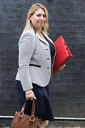 Downing Street, London, September 13th 2016. Secretary of State for Culture, Media and Sport Karen Bradley leaves the weekly cabinet meeting at Downing Street.