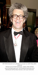 MR PIERS GOUGH at a dinner in London on 30th May 2001.OOS 23