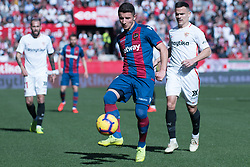 January 26, 2019 - Sevilla, Andalucia, Spain - Roque Mesa of Sevilla FC and Bardhi of Levante UD competes for the ball during the La Liga match between Sevilla FC v Levante UD at the Ramon Sanchez Pizjuan Stadium on January 26, 2019 in Sevilla, Spain  (Credit Image: © Javier MontañO/Pacific Press via ZUMA Wire)