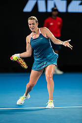 January 21, 2019 - Melbourne, VIC, U.S. - MELBOURNE, VIC - JANUARY 20: ANASTASIA PAVLYUCHENKOVA (RUS) during day seven match of the 2019 Australian Open on January 20, 2019 at Melbourne Park Tennis Centre Melbourne, Australia (Photo by Chaz Niell/Icon Sportswire (Credit Image: © Chaz Niell/Icon SMI via ZUMA Press)