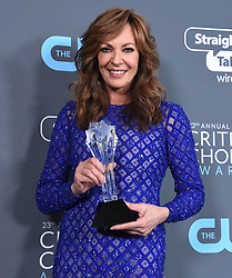 Allison Janney at the 23rd Annual Critics' Choice Awards held at the Barker Hangar on January 11, 2018 in Santa Monica, CA ©Tammie Arroyo/AFF-USA.com. 11 Jan 2018 Pictured: Allison Janney. Photo credit: MEGA TheMegaAgency.com +1 888 505 6342