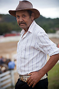 Portrait of male Gaucho cowboy. Gaucho cowboy Rodeo, Flores de Cunha, Rio Grande do Sul.