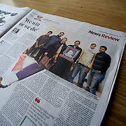 """Tearsheet of """"Libya: We win or we die"""" (photo only) published in The Irish Times"""
