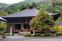"""Daizenji Temple was built in Koshu by Buddhist priest Gyoki in 718.  It is sometimes called the """"grape temple"""" as Gyoki was met by the presence of Yakushi Nyorai the Buddhist disciple of healing holding a cluster of grapes. As a result the temple has come to be called """"the birthplace of the Koshu Grape.""""  The temple even offers wine tasting, the only one in Japan to honor this custom, since it is at the heart of the Katsunuma wine district of Yamanashi.  Over the course of its long history, many of the temple structures have been destroyed by natural disaster - most of what remains is Yakushi Hall and the Sammon Gate.  Daizenji also has an impressive Japanese pond garden within its grounds, ideally viewed from the washitsu tatami room"""