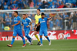 August 24, 2018 - Angel of Getafe celebrates the goal during the spanish league, La Liga, football match between Getafe and Eibar on August 24, 2018 at Coliseum Alfonso Perez stadium in Madrid, Spain. (Credit Image: © AFP7 via ZUMA Wire)