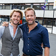 NLD/Hilversum20150825 - Najaarspresentatie RTL 2015, Carlo Boszhard en partner Herald Adolfs