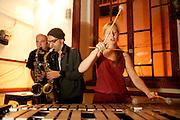 "Brazilian sax player Alipio C.Neto, american saxophonist Michael Attias and belgium vibraphone player Elsa Vandeweyer on a jam session. ""Jazz ao Centro"" jazz festival is held twice a year in portuguese town of Coimbra."