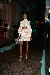 May 3, 2018 - New York, NY, USA - May 3, 2018  New York City..Justine Skye attending Tiffany & Co. 'Paper Flowers' jewelry collection launch on May 3, 2018 in New York City. (Credit Image: © Kristin Callahan/Ace Pictures via ZUMA Press)