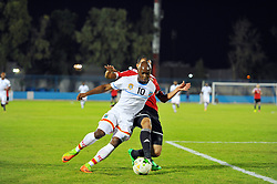 October 7, 2017 - Monastir, Tunisia - Kebano Neeskens(10) of Dr Congo and Aboub Mouad(4) during the qualifying match for the FIFA 2018 World Cup in Russia between Libya and the Democratic Republic of Congo (DR Congo) at Mustapha Ben Jannet stadium in Monastir  (Credit Image: © Chokri Mahjoub via ZUMA Wire)