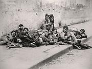 'Sweet Idleness' Fratelli Alinari 1897 Naples, Italy group of poor street boys