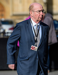 © Licensed to London News Pictures.07/03/2017.London, UK. LORD LEVENE arrives at Parliament to vote in the Lord's on the third reading of the Brexit bill. .Photo credit: Ben Cawthra/LNP