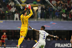 Hugo Lloris of France in action during the UEFA Nations League Finals 2021 final football match between Spain and France at Giuseppe Meazza Stadium, Milan, Italy on October 10, 2021. Photo by Fabrizio Carabelli/IPA/ABACAPRESS.COM