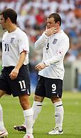 Photo: Chris Ratcliffe.<br /> England v Ecuador. 2nd Round, FIFA World Cup 2006. 25/06/2006.<br /> Wayne Rooney of England.