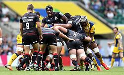 Maro Itoje of Saracens pokes out of the rolling maul - Mandatory by-line: Robbie Stephenson/JMP - 03/09/2016 - RUGBY - Twickenham - London, England - Saracens v Worcester Warriors - Aviva Premiership London Double Header