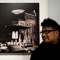 John Jay, illustrator. Paris, France. 14 November 2009. Photo: Antoine Doyen