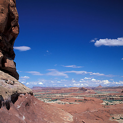 Canyonlands National Park, UT.Hiking. Needles District, near Wooden Shoe Arch. Sandstone.