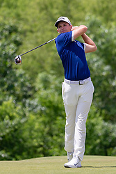 May 12, 2019 - Dallas, TX, U.S. - DALLAS, TX - MAY 12: Aaron Wise hits his tee shot on #4 during the final round of the AT&T Byron Nelson on May 12, 2019 at Trinity Forest Golf Club in Dallas, TX. (Photo by Andrew Dieb/Icon Sportswire) (Credit Image: © Andrew Dieb/Icon SMI via ZUMA Press)