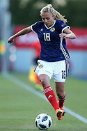 Claire Emslie (#18) of Scotland controls the ball during the FIFA Women's World Cup UEFA Qualifier match between Scotland Women and Belarus Women at Falkirk Stadium, Falkirk, Scotland on 7 June 2018. Picture by Craig Doyle.