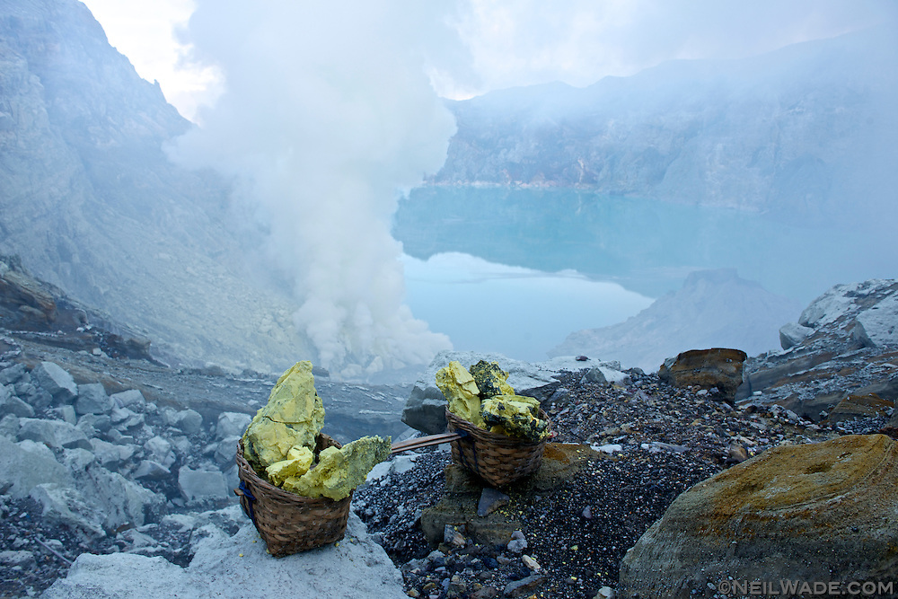 Like many of Indonesia's volcanoes, Mt Ijen has a lake in the crater.