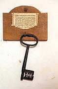 Village parish church All Saints, Eyke, Suffolk, England, UK - ancient 15th century metal key