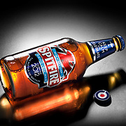 Premium Spitfire Kentish Ale product photographed by commercial and adverting photographer Stuart Freeman in the Hype photography studio.